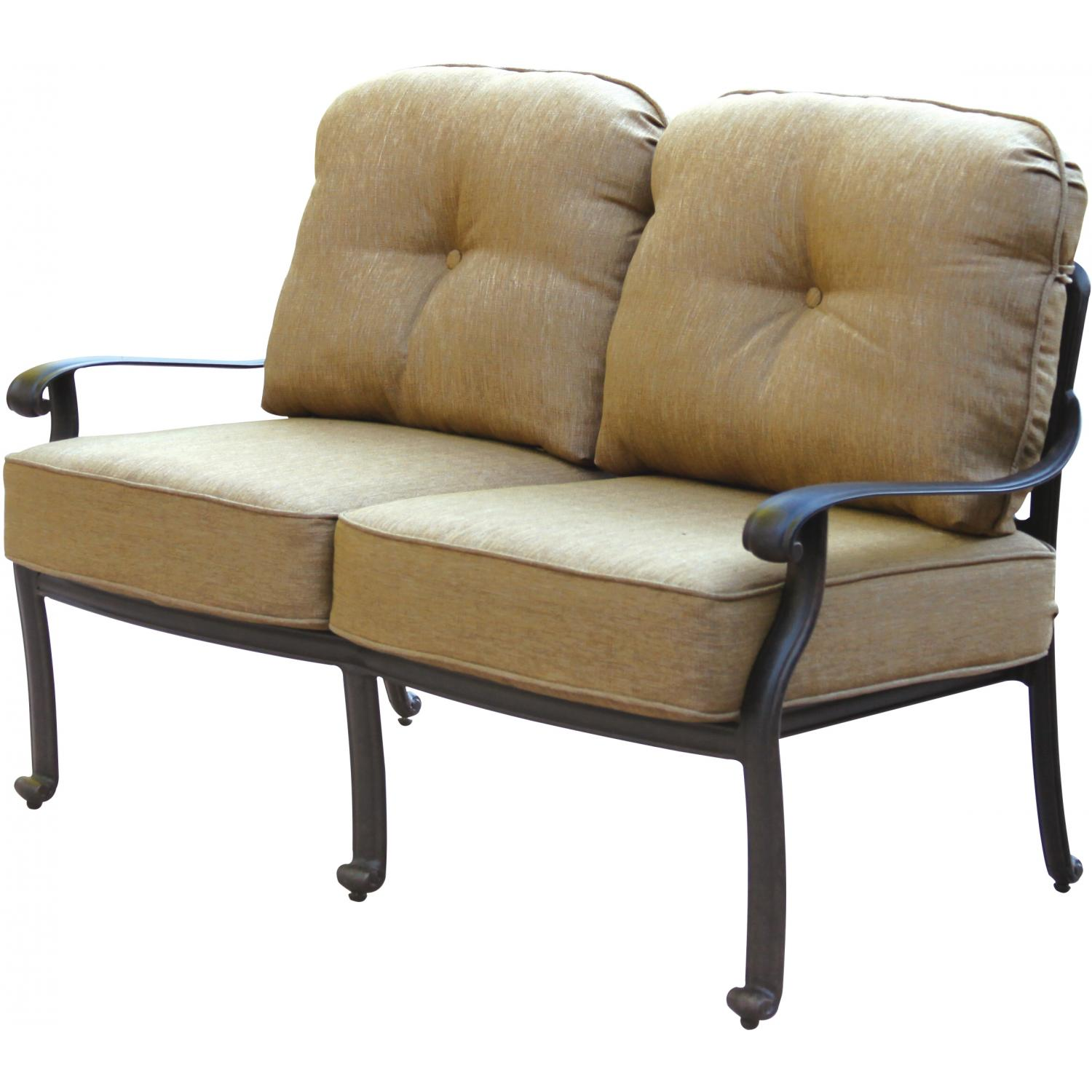 Patio Furniture Loveseat Cushions: Patio Furniture Deep Seating Loveseat Cast Aluminum Lisse