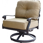 Patio Furniture Deep Seating Rocker Club Cast Aluminum Chair Swivel Lisse