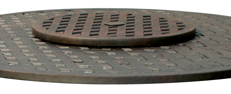 Cast Aluminum Lazy Susan Basketweave