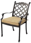 Patio Furniture Chair Dining Cast Aluminum (Set/2) Camino Real