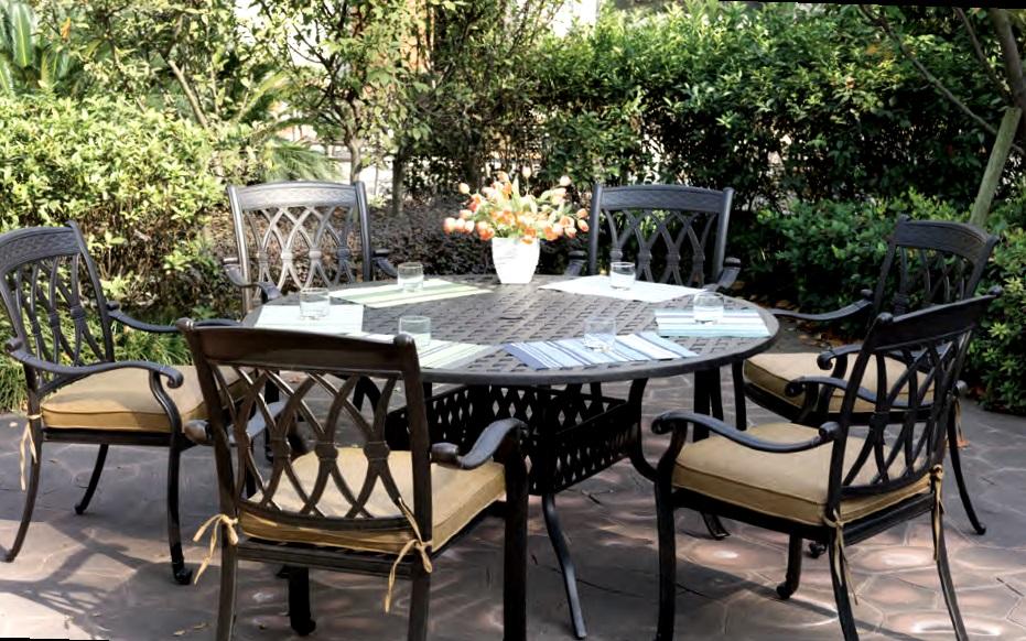 Patio Furniture Dining Set Cast Aluminum 60 Quot Round Table