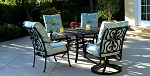 Cast Aluminum Riound Table Dining Set for 4
