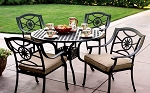 Patio Furniture Cast Aluminum Dining  Set 48