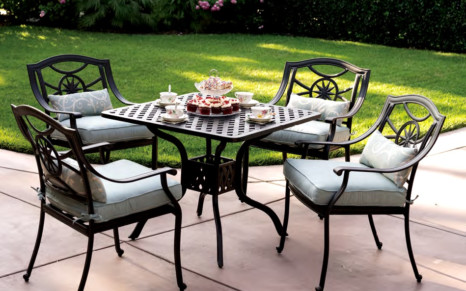 Patio Furniture Cast Aluminum Dining Set 36 Quot Square Cafe
