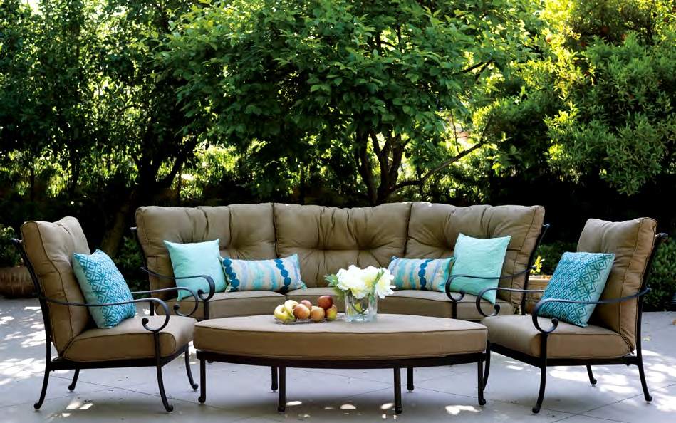 Patio Furniture Deep Seating Sectional Cast Aluminum Set
