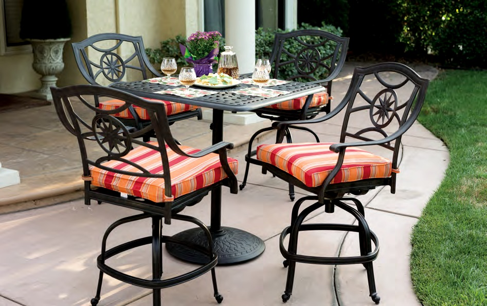 Patio Furniture Dining Set Cast Aluminum 36 Quot Square