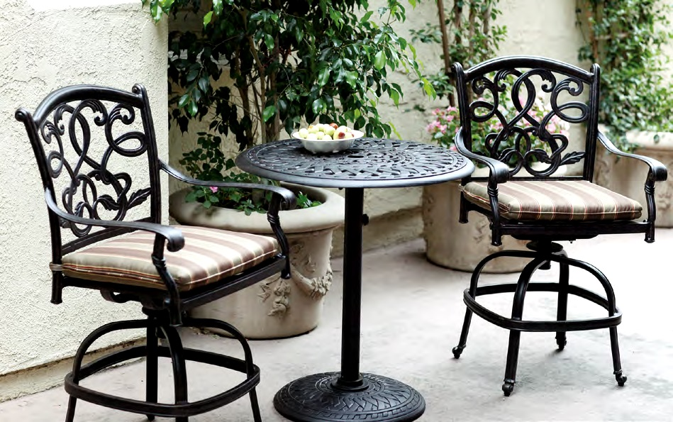 Cast Aluminum Patio Furniture Pub Set Barstool Chairs Bistro Table 20527ch 201060cj Jpg