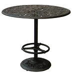 Patio Furniture Table Bar Cast Aluminum 42