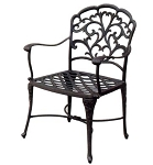 Patio Furniture Chair Dining Cast Aluminum (Set/2) Catalina