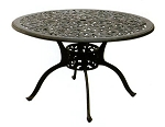 Patio Furniture Table Dining Cast Aluminum 48