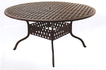 Patio Furniture Table Dining Cast Aluminum 60