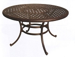 Patio Furniture Table Dining Cast Aluminum 52