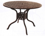 Patio Furniture Dining  Table Cast Aluminum 42