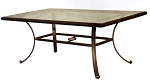 Patio Furniture Table Dining Cast Aluminum 72