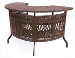 Patio Furniture Party Bar Cast Aluminum Lisse