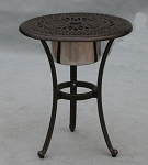 Patio Furniture Table Tea Cast Aluminum 21