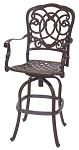 Patio Furniture Bar Stool Swivel Cast Aluminum Florence
