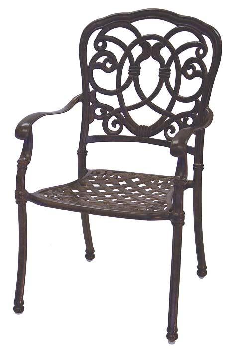 Patio Furniture Chair Dining Cast Aluminum Set 2 Florence