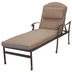 Patio Furniture Chaise Lounge Cast Aluminum Florence