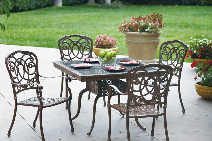 Patio Furniture Dining Set Cast Aluminum 41