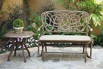 Patio Furniture Glider Bench Cast Aluminum Florence