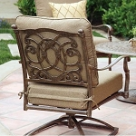 Patio Furniture Cast Aluminum Deep Seating Rocker Swivel Club Chair Florence