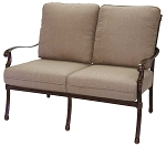 Patio Furniture Deep Seating Loveseat Cast Aluminum Florence
