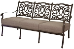 Patio Furniture Deep Seating Sofa Cast Aluminum Florence