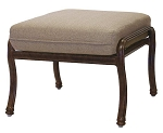 Patio Furniture Deep Seating Ottoman Cast Aluminum Florence