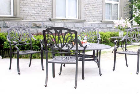 Patio Furniture Cast Aluminum Ensemble 52