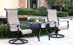 Patio Furniture Aluminum/Sling Bistro Set 3pc Monterey