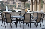Patio Furniture Aluminum/Sling Dining Set 78