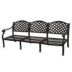 Patio Furniture Deep Seating Sofa Cast Aluminum Nassau