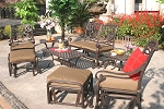 Patio Furniture Glider Cast Aluminum Set 8pc Santa Monica