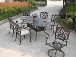 Patio Furniture Dining Set Cast Aluminum 84