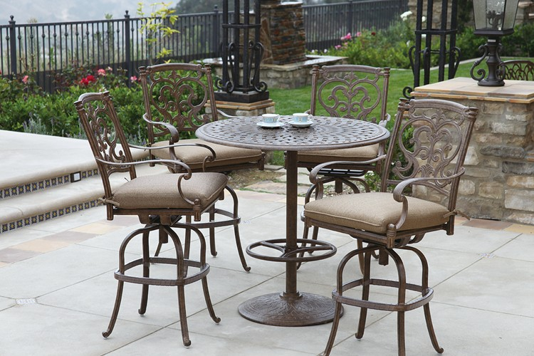 "Patio Furniture Dining Set Cast Aluminum 42"" Round"