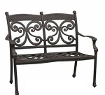 Patio Furniture Bench Cast Aluminum Loveseat Monarch