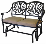 Patio Furniture Glider Bench Cast Aluminum Lisse