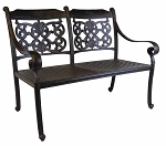 Patio Furniture Bench Cast Aluminum Loveseat DWL Florence