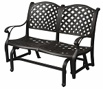 Patio Furniture Glider Bench Cast Aluminum Loveseat Nassau