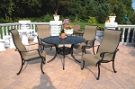 Patio Furniture Cast Aluminum/Sling Dining Set 48