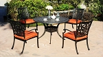 Patio Furniture Dining Set Cast Aluminum 5pc Oxford