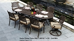 Patio Furniture Dining Set Cast Aluminum 9pc Exeter