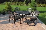 Patio Furniture Dining Set Cast Aluminum 5pc Valencia