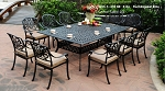Patio Furniture Dining Set Cast Aluminum 11pc Lisse