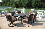 Patio Furniture Dining Set Cast Aluminum 7pc DWL Florence