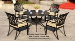 Patio Furniture Dining Set Cast Aluminum 5pc Carlisle