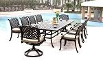 Patio Furniture Dining Set Cast Aluminum 11pc Nassau