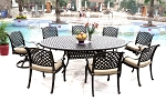 Patio Furniture Dining Set Cast Aluminum 9pc Nassau