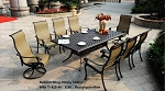 Patio Furniture Dining Set Cast Aluminum Sling Chairs 9pc Summit